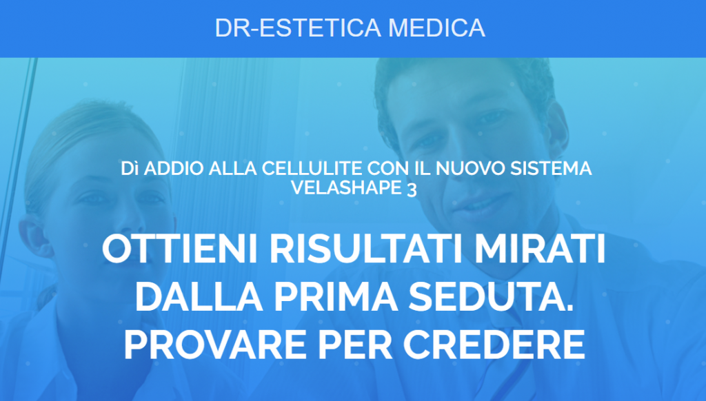 Esempio landing page-Adwords-PPC-velashape 3-victor motricala-consulente marketing-padova-blog-segreti del marekting-conversion funnel